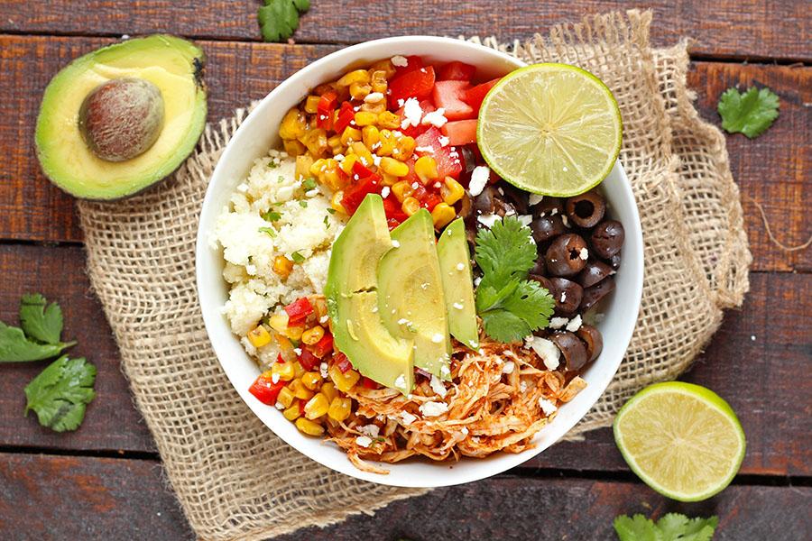 Chicken Enchilada Cauliflower Rice Bowl Recipe