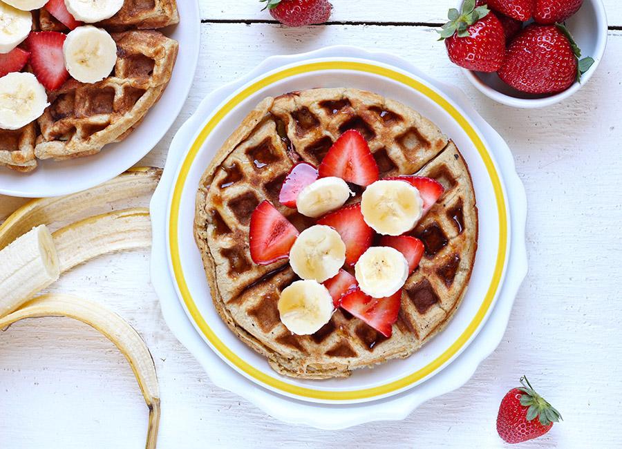 Strawberry Banana Waffles