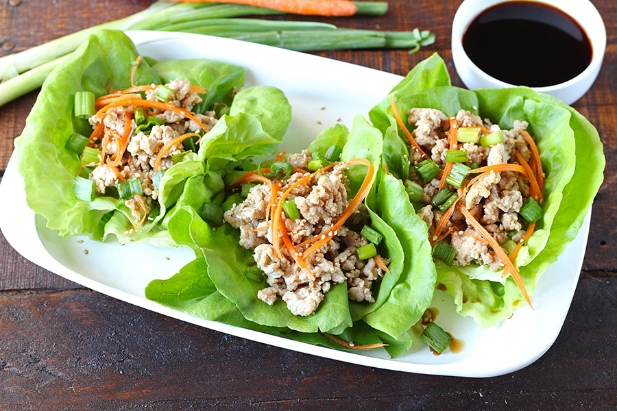 Asian Chicken Lettuce Wraps Recipe