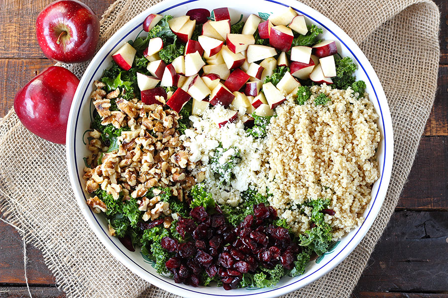 Autumn Kale and Apple Salad Recipe