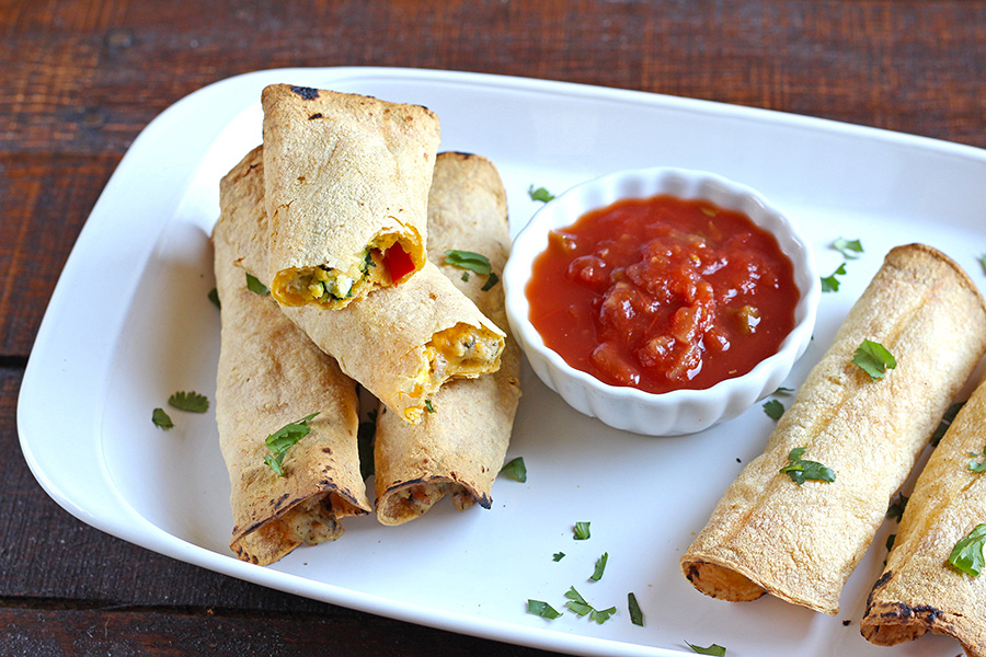 Sausage and Egg Breakfast Taquitos Recipe