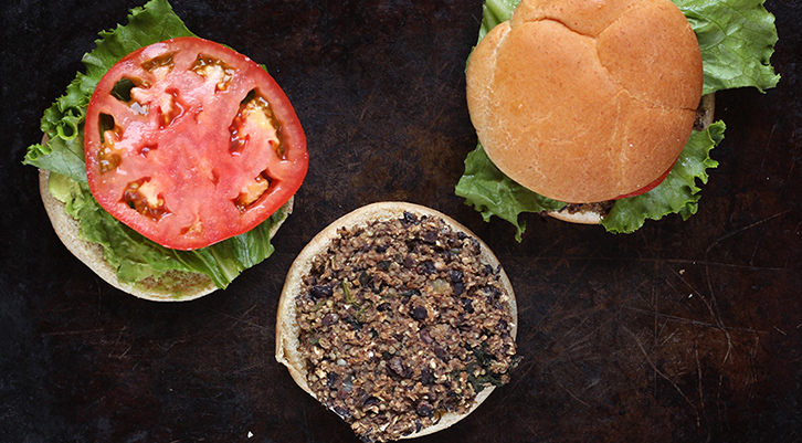 Spinach Black Bean Burgers