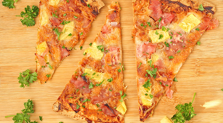 BBQ Hawaiian Flatbread Pizza Recipe