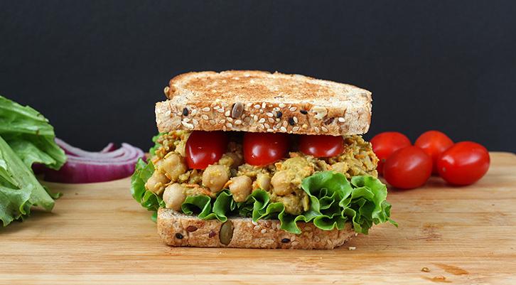 Lentil Chickpea Salad Sandwich