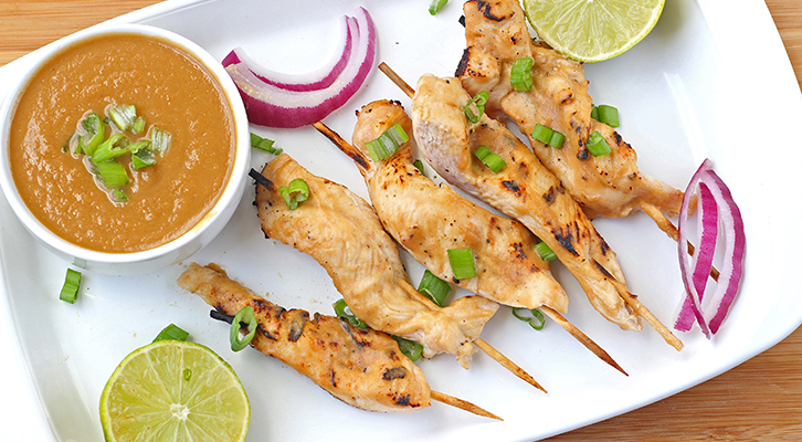 Thai Peanut Chicken Satay Recipe