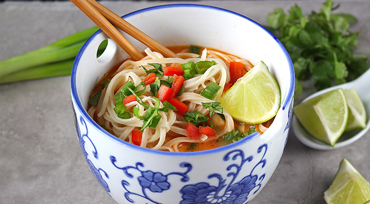 Thai Chicken Rice Noodle Soup