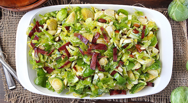 Citrus Bacon and Brussels Sprout Salad