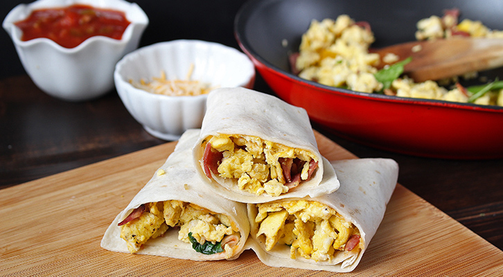 Freezer Friendly Egg Burritos