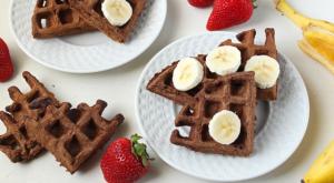 Chocolate Banana Waffles