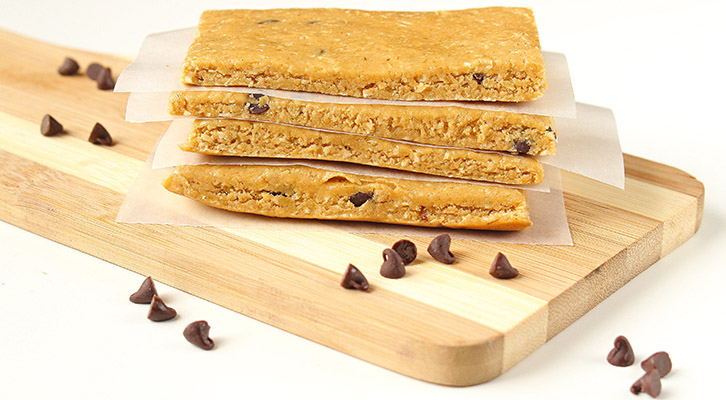 Chocolate Chip Cookie Dough Protein Bars