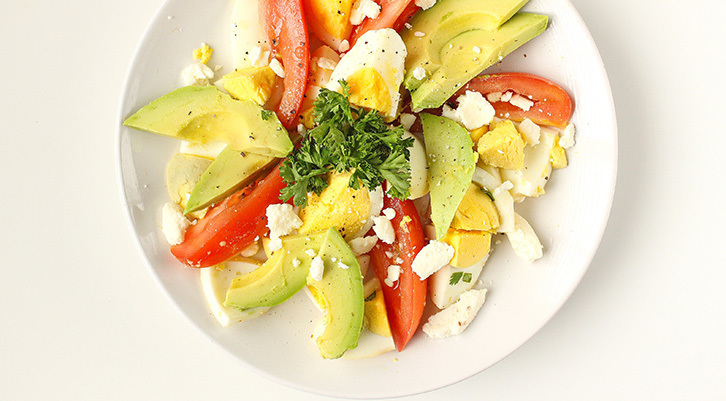 Egg, Avocado and Tomato Salad