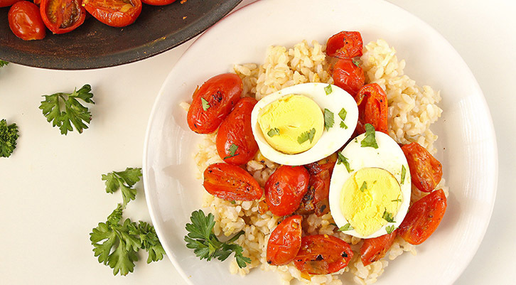 Egg Curry with Cherry Tomatoes