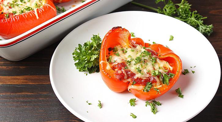 Lasagna Stuffed Bell Peppers