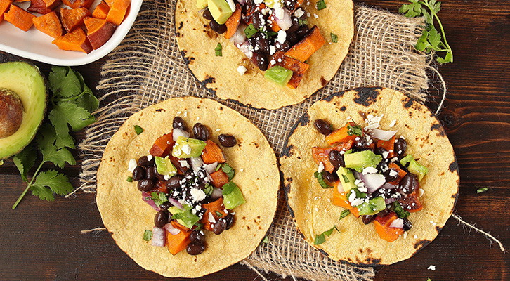 Sweet Potato Black Bean Tacos