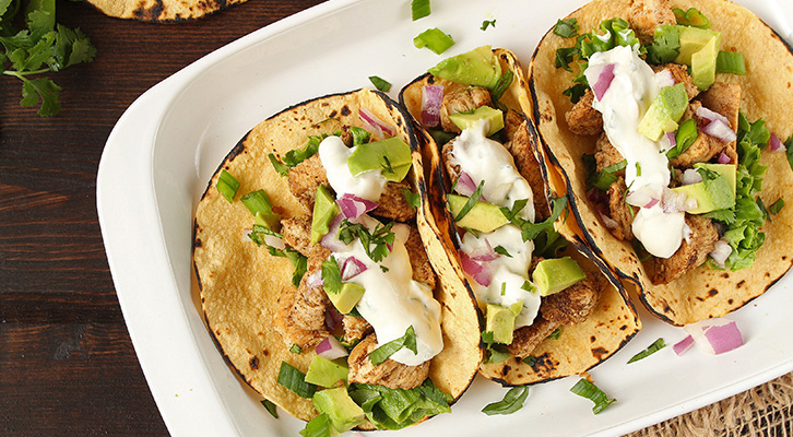 Sweet and Spicy Chicken Tacos