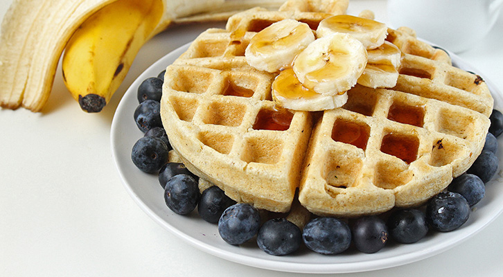 Whole Wheat Yogurt Waffles