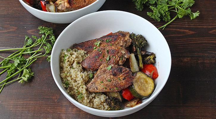 Balsamic Chicken and Vegetable Power Bowl