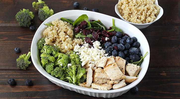Blueberry Broccoli and Chicken Salad