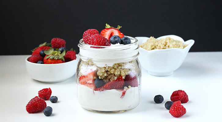 Quinoa Breakfast Parfait in a Jar