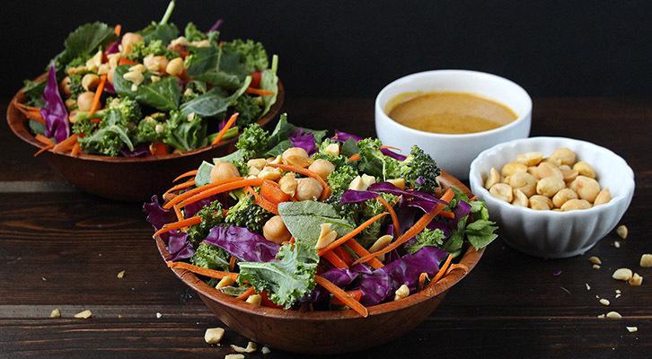 Rainbow Kale Salad