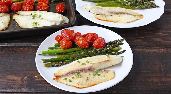 Sheet Pan Garlic Tilapia with Vegetables