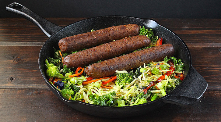 Skillet Sausage and Slaw