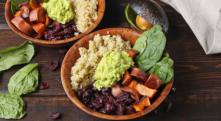 Sweet Potato Cranberry Power Bowl