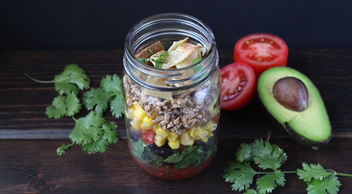 Taco Salad in a Jar