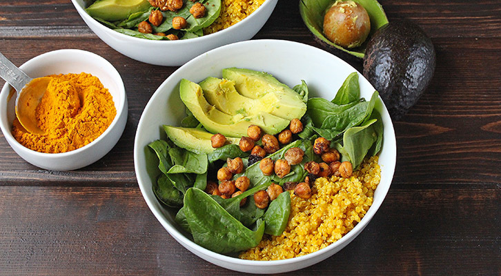 Turmeric Chickpea Power Bowl