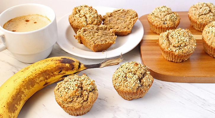 Banana Hemp Seed Protein Muffins