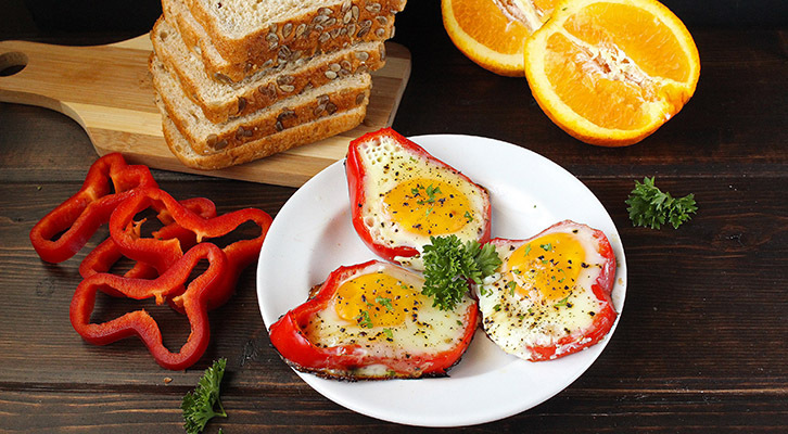 Bell Pepper Eggs in a Hole