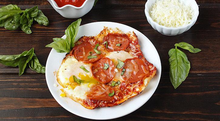 Egg Pepperoni Pizza