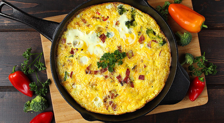 Bacon and Vegetable Frittata