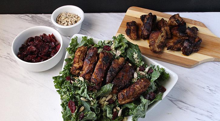 Balsamic Pork Kale and Quinoa Salad