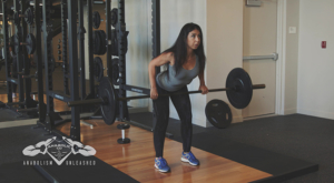 holding a barbell - shoulder width - pull the bar - starting position